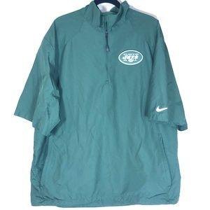 Nike  NY Jets SS 1/4 Zip SS Pullover Size - XL